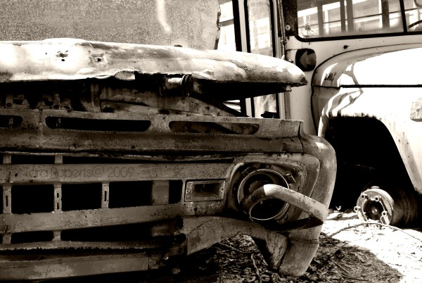 junked bus
