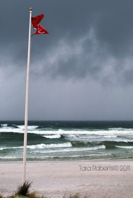 Double red flags during Tropical Storm Lee