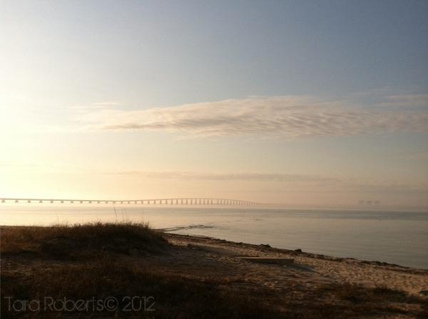 sunrise on bay bridge