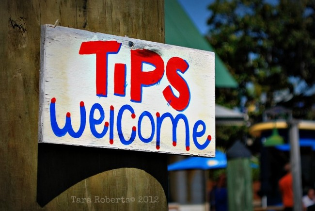 tips welcome sign