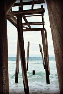 abandoned fishing pier