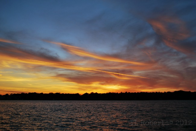 Holiday skies sunset