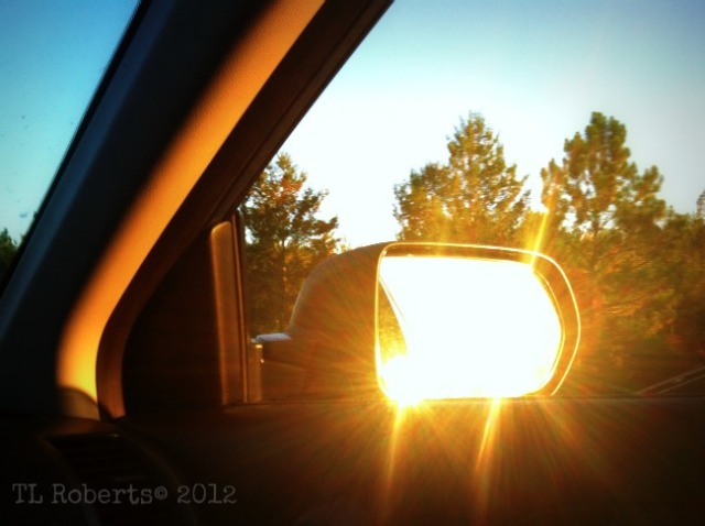 sunset rearview