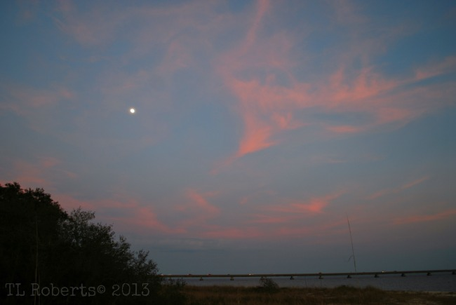 sunset moon