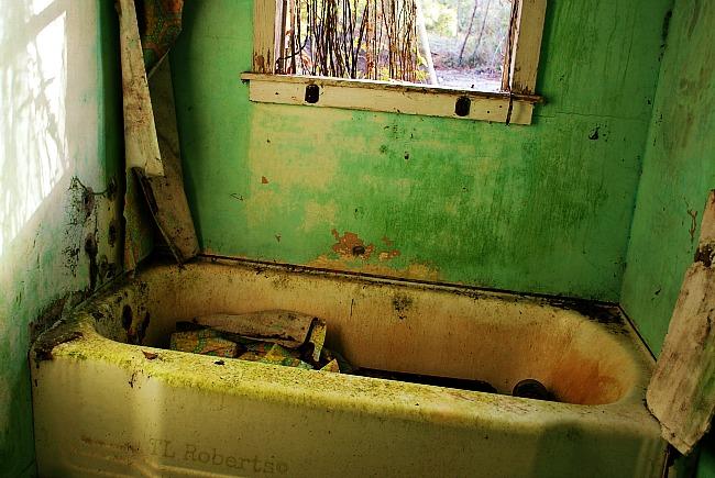 old bathtub