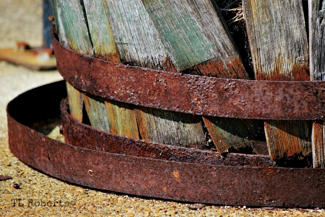 rusty iron bands