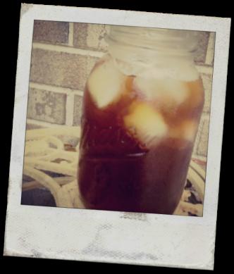 mason of iced tea