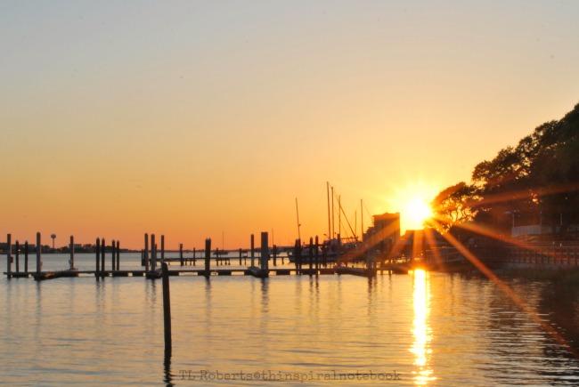 sunset at marina