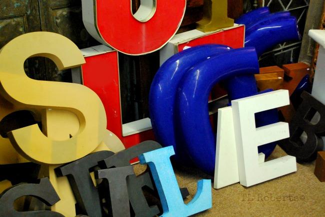 large vintage letters