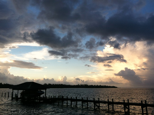 sunrise at boat pier