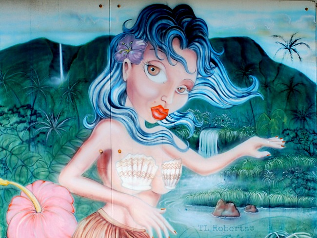 mermaid street art