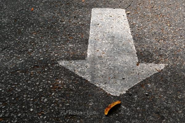 painted road arrow