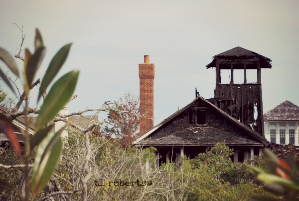 burnt beach house