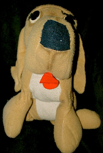 old stuffed toy dog