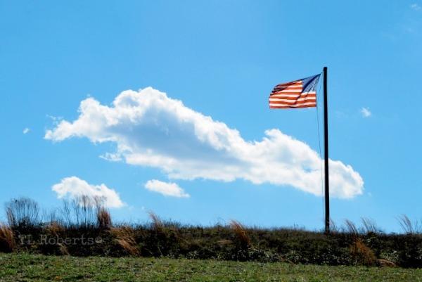 American flag unfurled