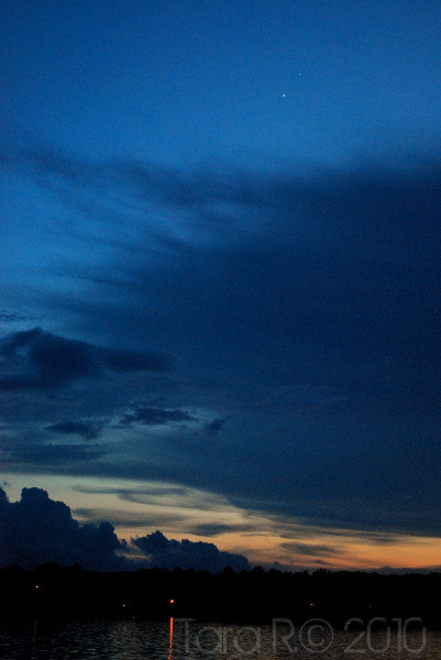 dark blue sunset
