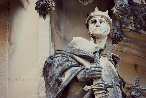 stone statue of knight