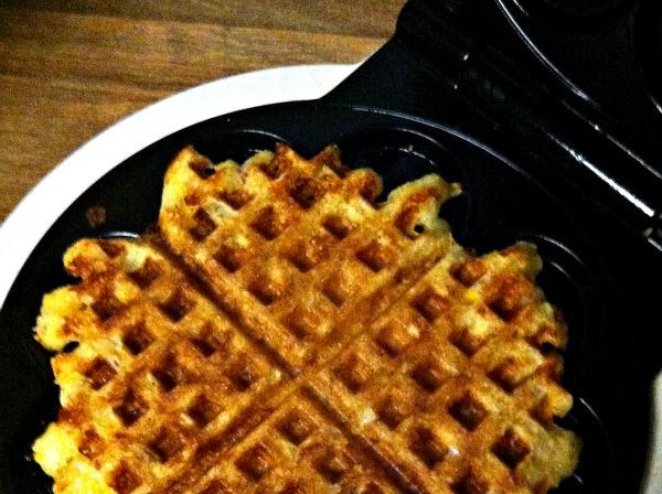 waffle iron and waffle