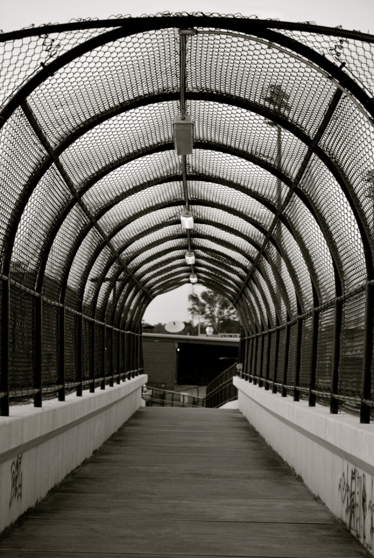 high school pedestrian bridge