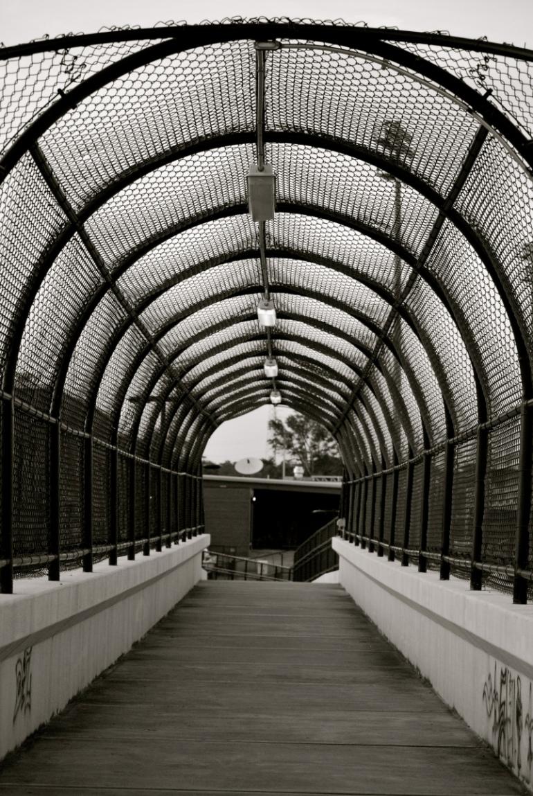 high school pedestrian bridge