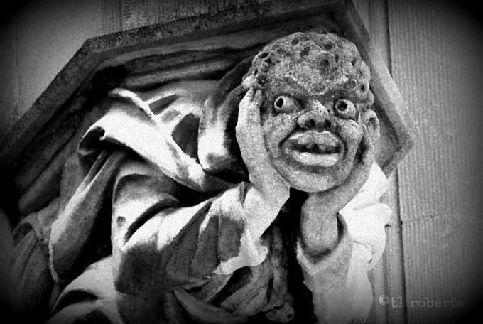 grotesque statue
