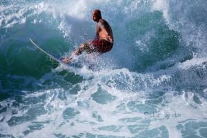 Tropical Storm Karen surfer