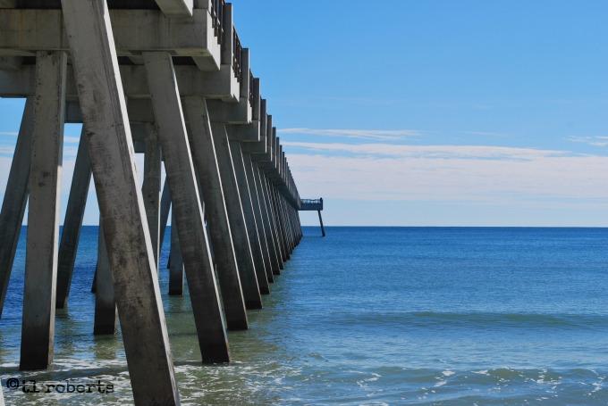 beneath fishing pier