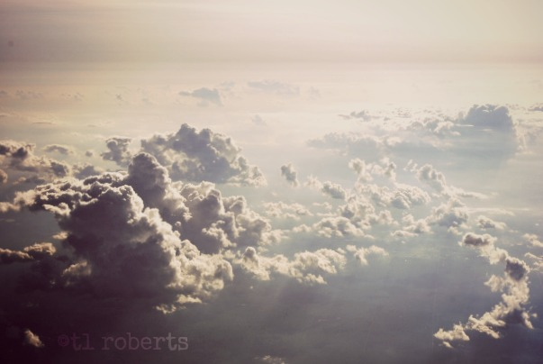 clouds seen from above