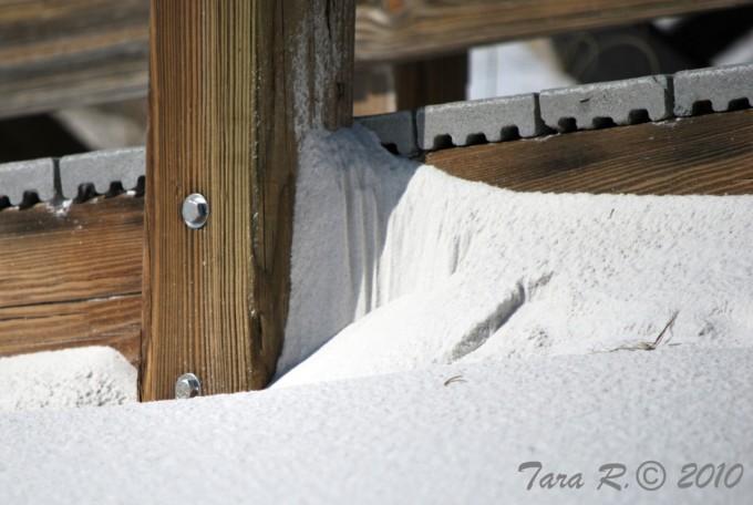 white sand drift