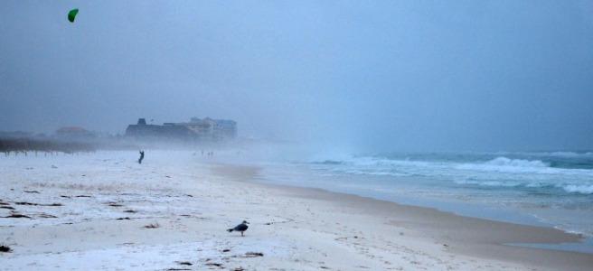 sea spray and fog