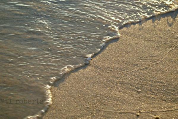 high tide on the beach