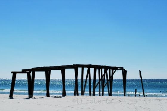 deserted wooden pier