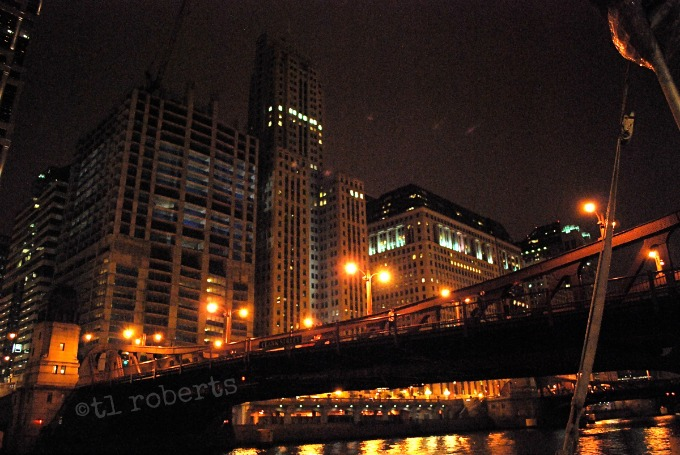 nighttime city scape