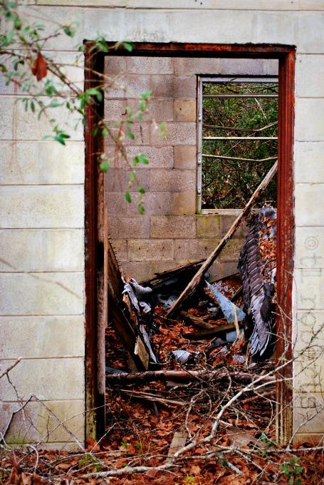 doorway to abandoned home