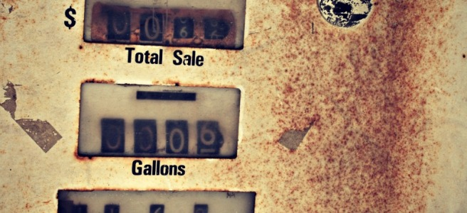 old gas pump dials