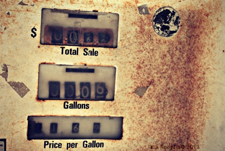 old gas pump dials