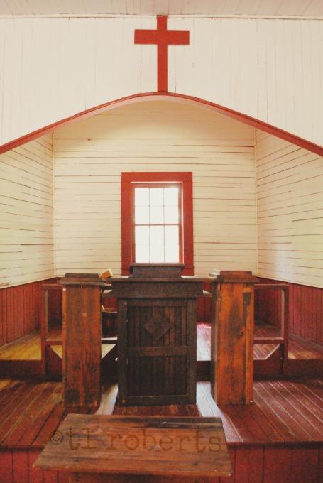 inside one-room church