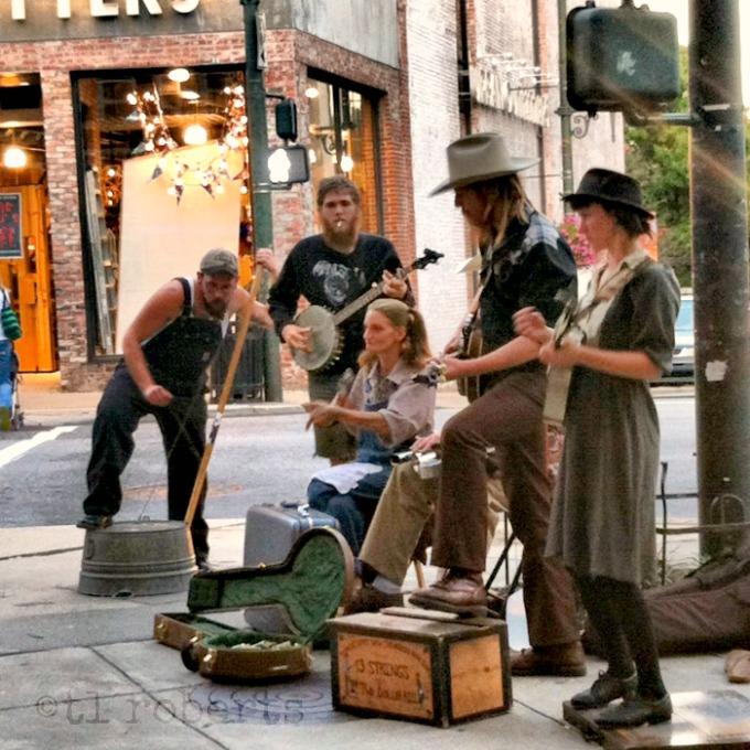 Street music performers