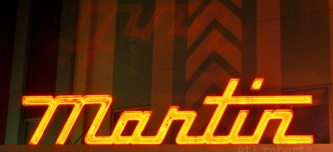 Neon theater marquee