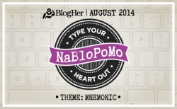 NaBloPoMo badge August '14