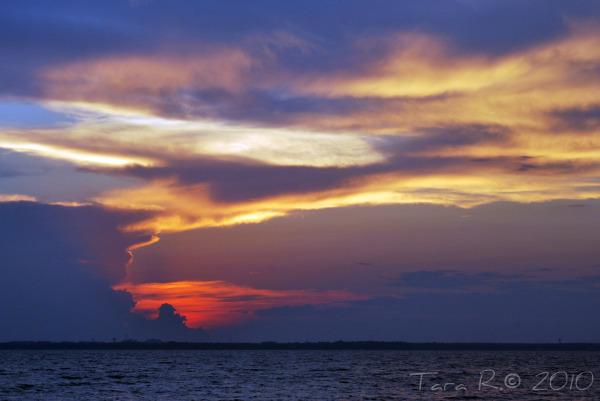 purple and orange sunset
