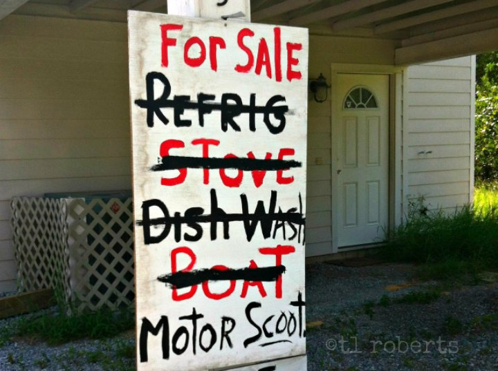 hand-painted for sale sign