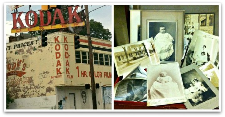 kodak store and old photo collage