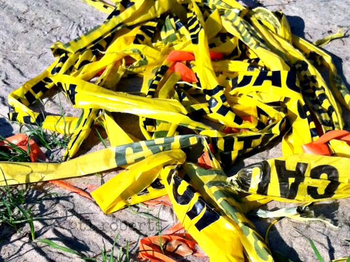 yellow caution tape