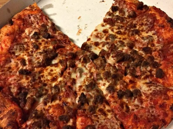 Takeout pizza