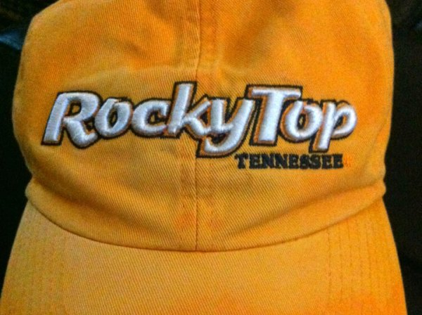 Orange ball cap, Rocky Top logo