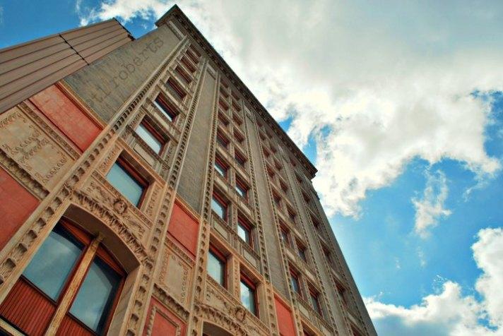downtown apartment building