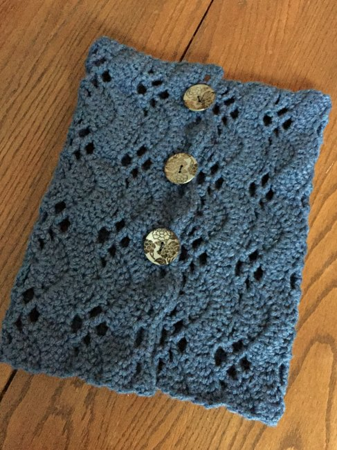 crocheted buttoned cowl
