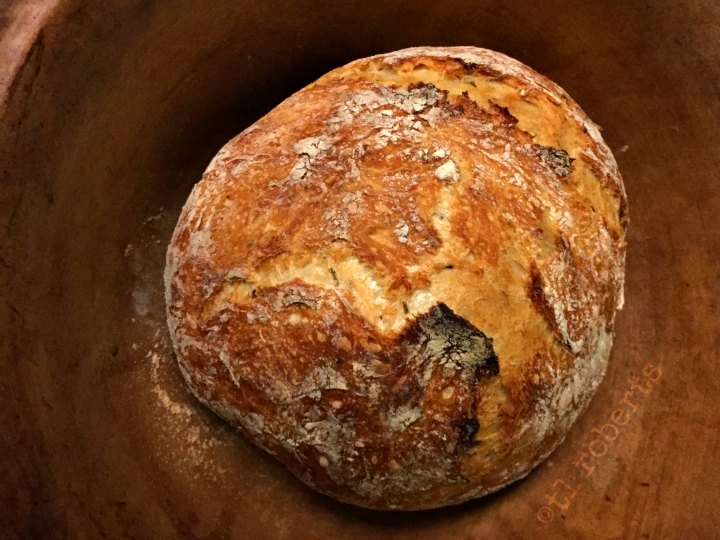 fresh baked boule bread