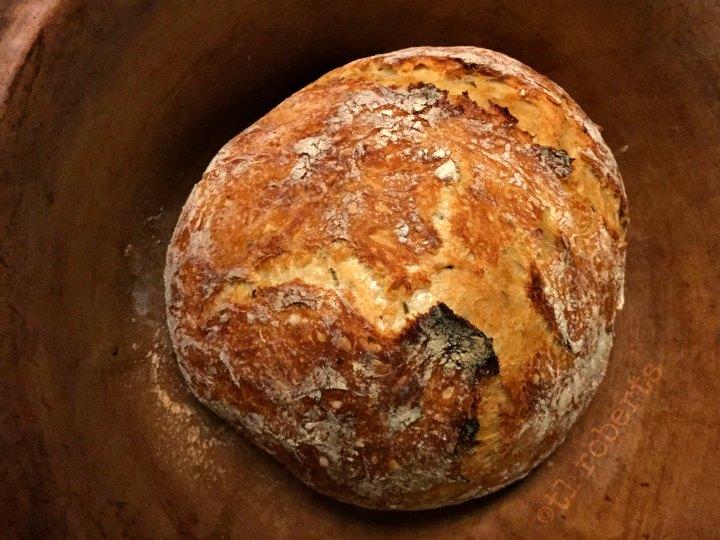 fresh baked boule bread